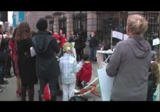 Outside the Dail – 15th of March 2012 – SPARK Protest